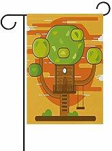 LINDATOP Garten-Flagge, Motiv: Baum mit Baum, 30,5