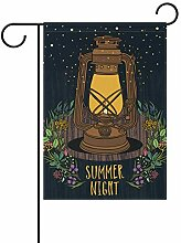 LINDATOP Garten-Flagge, Sommer-Nachthimmel,
