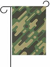 LINDATOP Garten-Flagge, Tarnmuster, 30,5 x 45,7