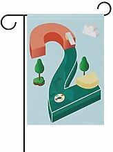 LINDATOP Gartenflagge für den Sommer, 30,5 x 45,7