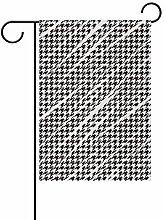 LINDATOP Gartenflagge Hahnentrittmuster, 30,5 x