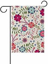 LINDATOP Gartenflagge mit Blumenmuster, 30,5 x