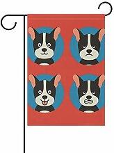 LINDATOP Gartenflagge mit Hundemotiv, 30,5 x 45,7
