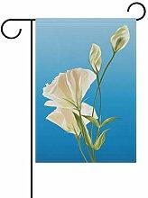 LINDATOP Gartenflagge mit realistischen Blumen,