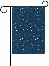 LINDATOP Gartenflagge mit Sternenmuster, 30,5 x