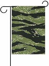 LINDATOP Gartenflagge mit Tiger-Streifen, 30,5 x