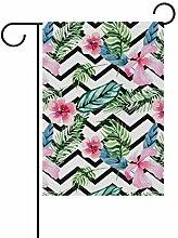 LINDATOP Gartenflagge mit tropischen Wasserfarben,