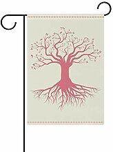 LINDATOP Gartenflagge mit Wurzeln, 30,5 x 45,7 cm,