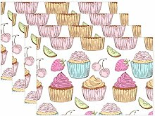LINDATOP Platzdeckchen mit Cupcake-Muster, 30,5 x