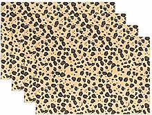 LINDATOP Tischset mit Leopardenmuster, 30,5 x 45,7