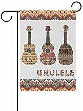 LINDATOP Ukulele, Garten-Flagge, 30,5 x 45,7 cm,