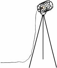 Lindby Keara Stehleuchte Dreibein mit Käfigschirm