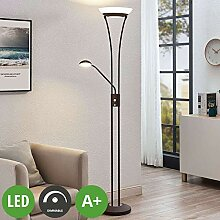 Lindby LED Stehlampe 'Amadou' dimmbar in