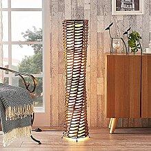 Lindby Stehlampe 'Joas' (Modern) in Braun