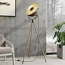 Lindby Tripod/Dreibein Stehlampe Dunkelgrau Gold |