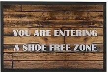 Lindeng Holz Muster Welcome Fußmatte mit
