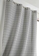 Linder 1570/19/47030/377FR Vorhang geometrisches Muster Schwarz Polyester/Leinen 140x 240cm
