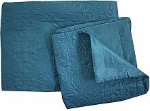 Linder 5053/47/835Bettwaren Set Tagesdecke und BOUTIS Polyester blau Ente 180x 240cm