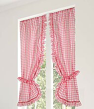 Linder Scheibengardine, Polyester, Rot, 105 x 200