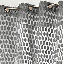 Linder Schlaufenschal mit 8Öse Polyester 140x 265cm, Polyester, grau, 140x265 x cm