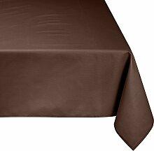 Linder Tischdecke rechteckig Picnic, schokoladenbraun, 160 x 300 cm