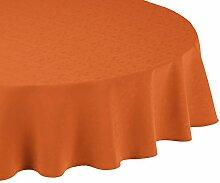Linder Tischdecke rund Mexico orange