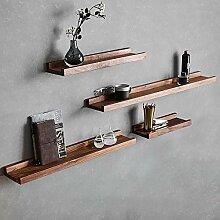 Lindhb Wandregal Modern aus Holz 4-teilige