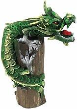Lindwurm Tatzelwurm Drache Deko Drachen Figur