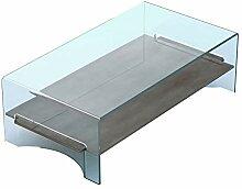Linea Vetro Olbia Couchtisch, Glas, 125x65x38 cm