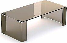 Linea Vetro Torno Couchtisch, Glas, 120x60x40 cm
