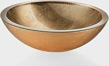 Lineabeta 53695.29.30 Glaswaschbecken Handwaschbecken gold Ø 30 cm