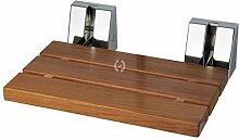LineaBeta Klapphocker mit Sitz aus Naturholz Teakholz, B: 400 mm x T: 340 mm