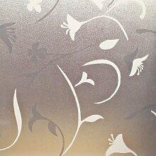 LineaFix statisch haftende Folie für Fenster Glasdeko als Sichtschutz Milchglas & Sonnenschutz (150 x 92cm, Roma)