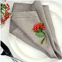 Linen & Cotton 4 x Luxus Stoffservietten FLORENCE