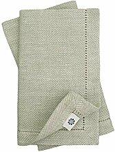 Linen & Cotton 4 x Stoffservietten Herringbone mit