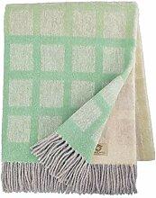 Linen & Cotton Decke Wolldecke Merino Wohndecke