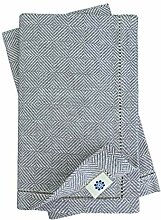 Linen & Cotton Luxus 4 x Stoffservietten mit