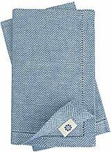 Linen & Cotton Qualität 4 x Stoffservietten
