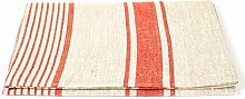 Linenme Badetuch Rot Leinen Provance, 100 x 145 cm