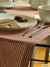LinenMe Tischläufer Rot Leinen Baumwolle Jazz