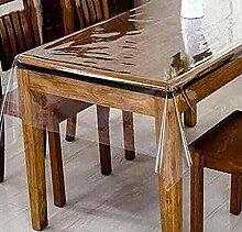 LINENS AND MORE Transparente Kunststoff-Tischdecke