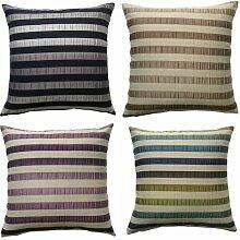 linensrange Luxus Contour 100% Polyester Home Sofa Dekoration Kissenbezug, violett, 2 Cushion Covers