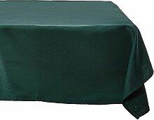 LinenTablecloth 60x 102-inch rechteckig Tischdecke, Polyester, Beige hunter green