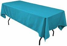LinenTablecloth 60 x 102-Inch Rectangular Polyester Tablecloth Caribbean