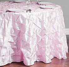 LinenTablecloth rund Pinwheel Tischdecke, pink, 259,1cm