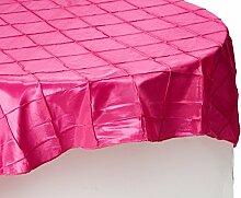 LinenTablecloth Runde Tischdecke mit Biesen,