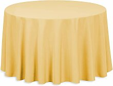 LinenTablecloth Runde Tischdecke Polyester,
