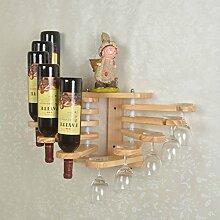 Linex Wand montiert Weinregal mit Wein Glas Rack