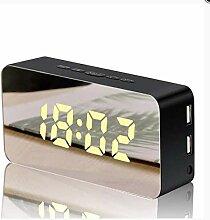 linfei Neue Kreative Handy Ladespiegel Wecker Led