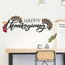 LING YUN Co,Ltd Thanksgiving Wandaufkleber